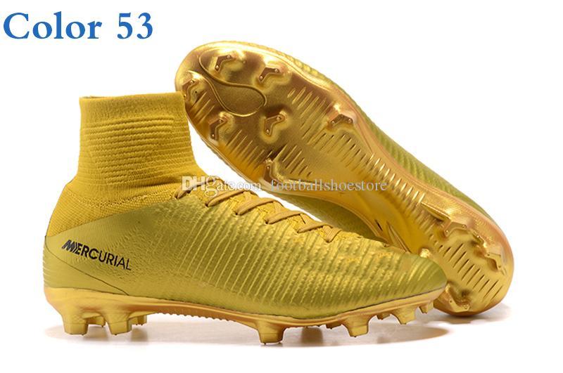 botas de fútbol para hombre mercurial superfly v neymar cr7 fg tobillo alto tejido rosa y zapatos de fútbol al aire libre tacos tiempo para brillar botas de fútbol