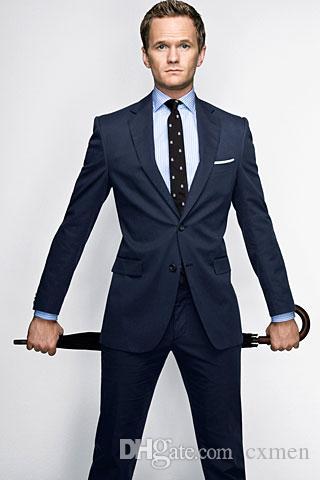 7d26b7ffec13 Customize Navy Blue Man Suit Men S Suits Wedding Groom Wear Tuxedos  Bridegroom Formal Casual Slim Fit Business Blazer Jacket+Pants Black Dinner  Jacket Black ...