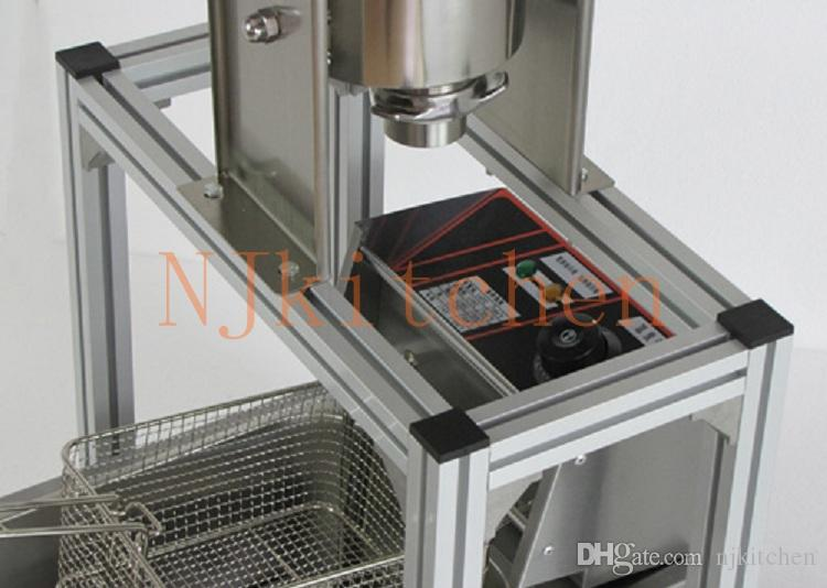 Commercial Use Manual Stainless Steel Spainish Churros Maker Machine with Nozzles with churros fryer and churros stand