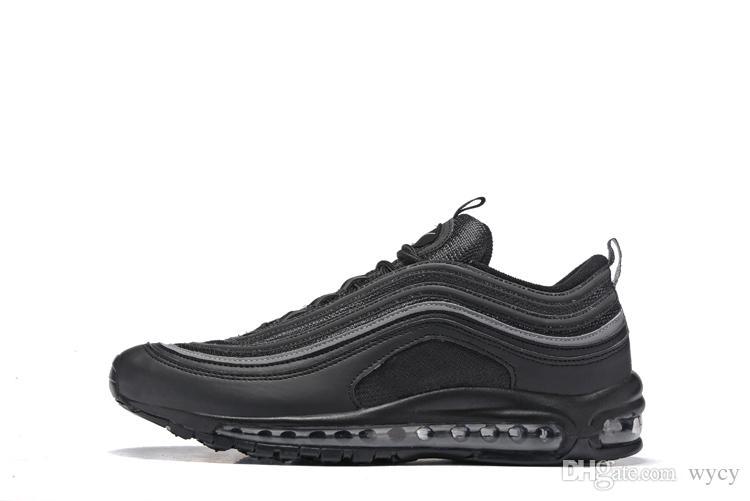 Nike air max 97 airmax 97 Venda quente Novos Homens correndo Sapatos Almofada 97 KPU Plástico Sapatos de Treinamento Baratos Moda Atacado Tênis Ao Ar Livre EUA 7-12