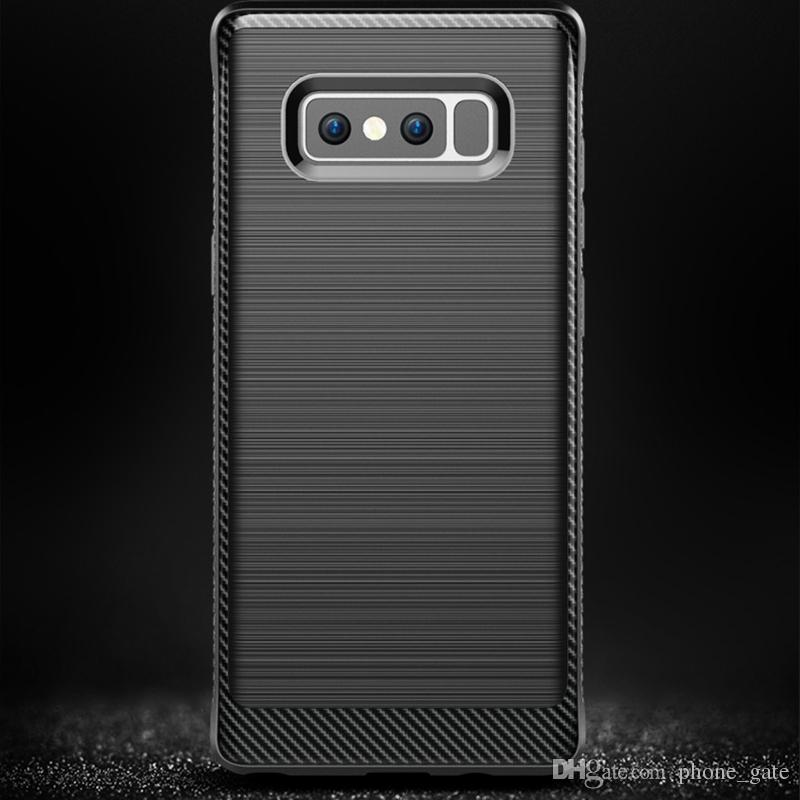 Samsung Galaxy Nota 8 Caso Ammortizzatore Slim Armor Fibra di carbonio Soft TPU Drawing Custodia telefono Galaxy Note8 Soft Silicone Protector