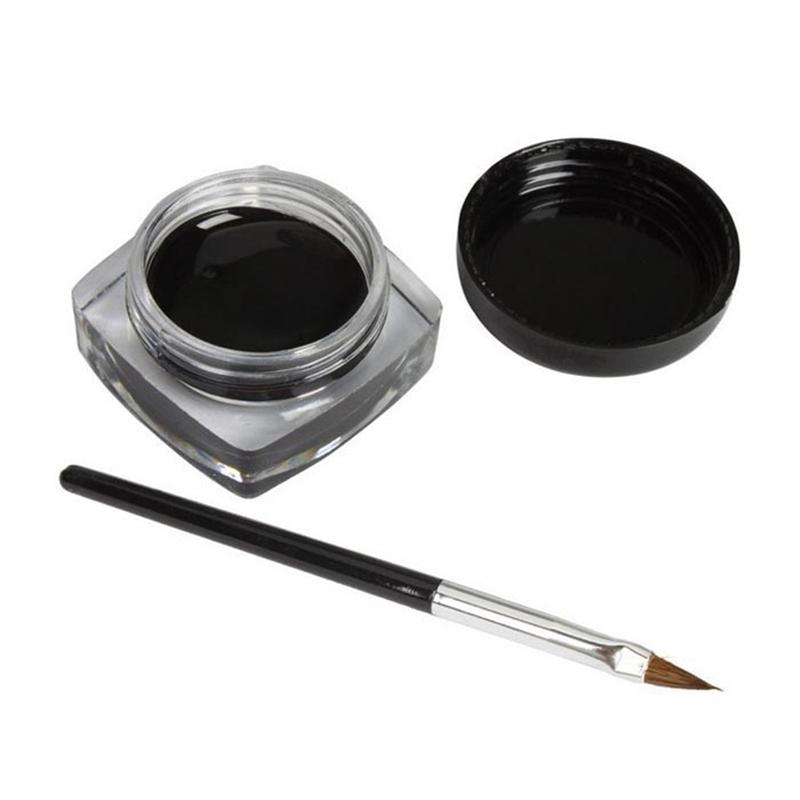 New Arrival Long-lasting Mini Eyeliner Gel Cream With Brush Makeup Cosmetic Black Waterproof Profissional Eye Liner Maquillajes