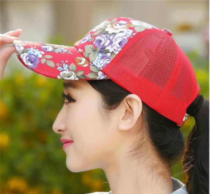 55302c58 2017 New Floral Hat Baseball Cap Mesh Caps Sports And Leisure Visor Sun  Hats Snapback Cap Available 2224 Online with $24.26/Piece on Sherity's  Store ...