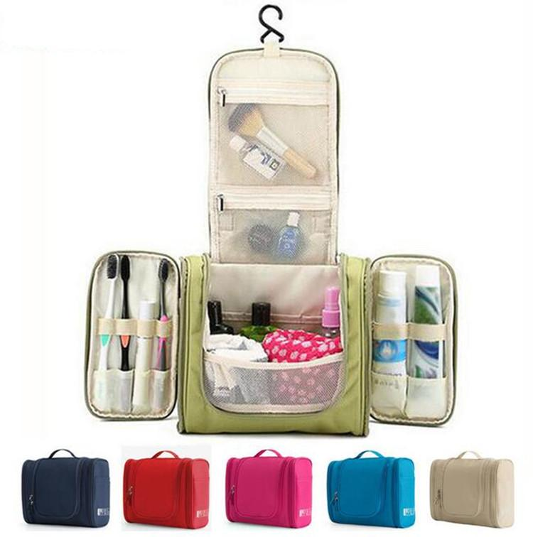 Waterproof Nylon Travel Organizer Bag Unisex Women Cosmetic Bag Hanging Travel Makeup Bags Washing Toiletry Kits Storage Case Bags Organizer