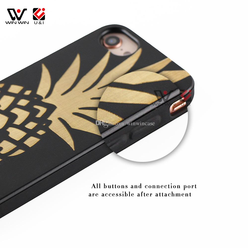 Dirt-resistant black wood case for iPhone x 8 7 6 6s 6plus 7plus 8plus plus, soft rubber coating back cover for i Phone