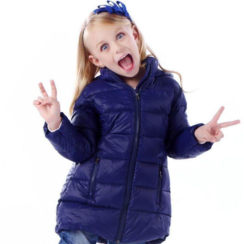 Children Winter Down Jacket Girls Warm Outerwear Coats Long Girls Down & Parkas 2-8 Years Kids Ski Coat Baby Waterproof Clothing