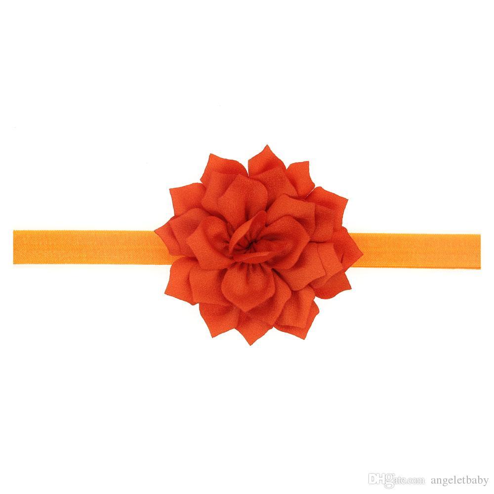 Hairbands Hair Bands A Cute Baby Girl Chiffon beautiful Flower Headband For Women Elastic Girl Hair Accessories H026