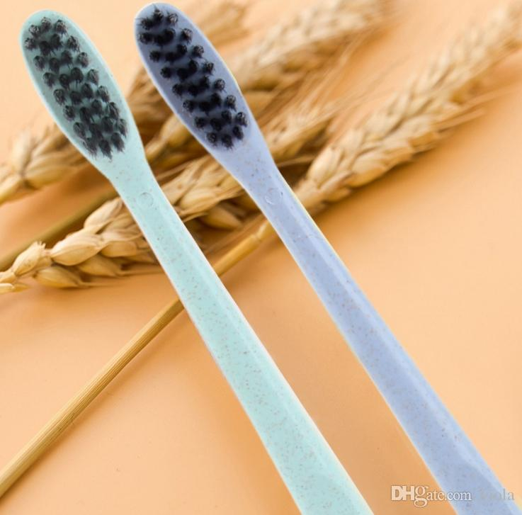 The Portable Travel Toothbrush Wheat Soft Bamboo Charcoal Toothbrush Tongue Cleaner made in china