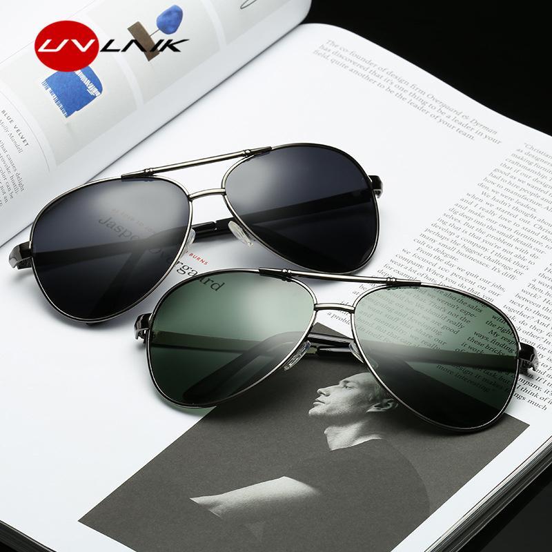ec3176c8888 UVLAIK Pilot 100% Polarized Sunglasses For Men Driving Glasses Men S HD  UV400 Vintage Sport Sun Glasses Women Brand Designer Black Sunglasses  Cycling ...