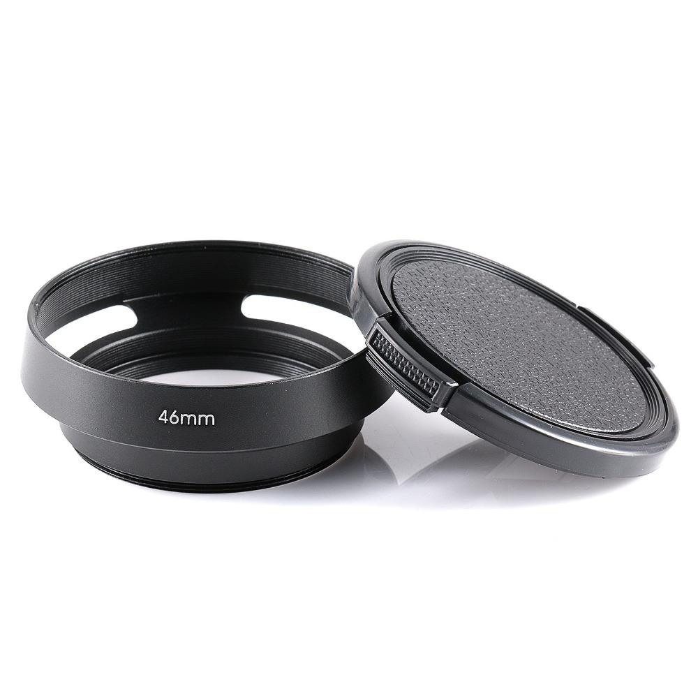 Es Accessories Camera Hoods 46mm Screw Mouth Metal Lens Hood With For Cameras 52mm Mount Center Pinch Cap Cloth Online