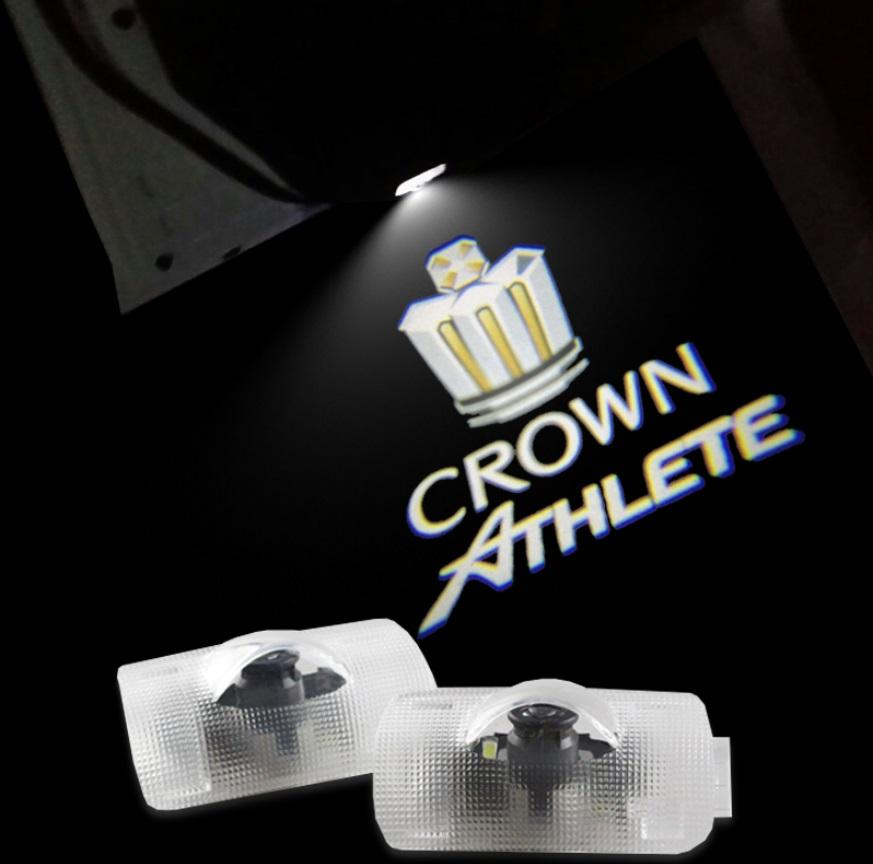 LED Car door Welcome laser projector Logo Ghost Shadow Light For Toyota Crown 2005-2013