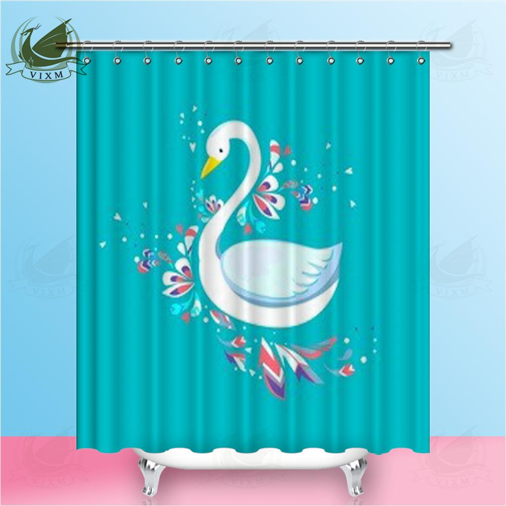 2019 Vixm Home Lovely White Swan Shower Curtain Waterproof And Mould Proof Creative High Quality For Bathroom With Hooks Ring 72 X From Bestory