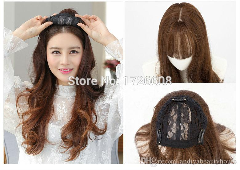 Silk Base Women Female Hair Pieces New Premium Hair Replacement Toupee Lace  Frontal Closure With Bundles Synthetic Accessory Lace Frontal Piece Closure  Wigs ... 2acee7717d