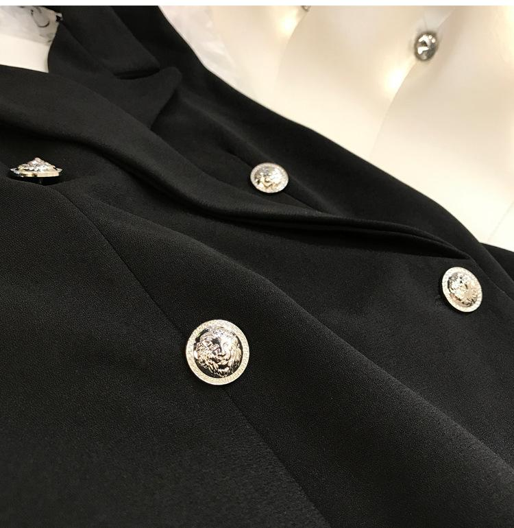 Uzun Yelek Kadın Kolsuz Ceket Takım Elbise Ceket Bayanlar Seksi Backless Slim Kruvaze Yelek Veste Femme Yelek Chalecos Mujer