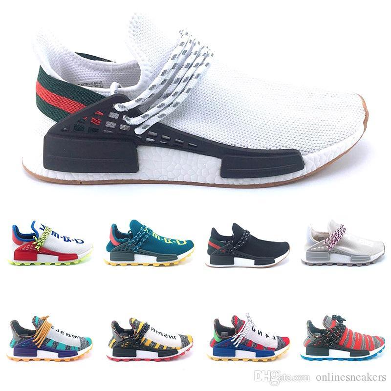 813b1378d 2019 Creme Nerd Human Race Trail Solar Afro Pack Running Shoes Men Women  Pharrell Williams HU Runner SOLARHU Top Trainer Sport Sneaker Size 5 12 From  ...