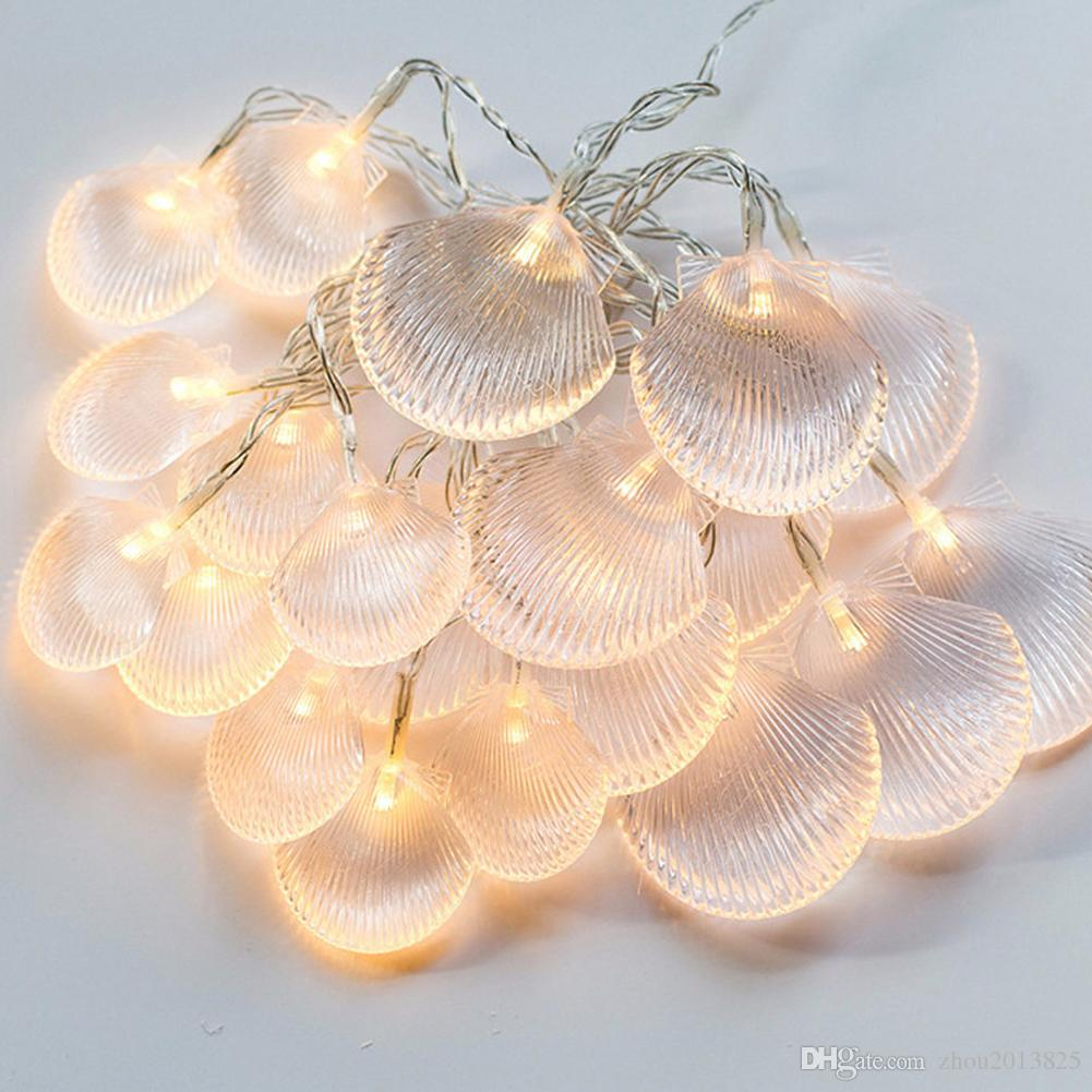 Ocean decor string lights impress life sea shell scallop beach ocean decor string lights impress life sea shell scallop beach series for outdoor summer seasonal wedding parties home ornaments vintage string workwithnaturefo