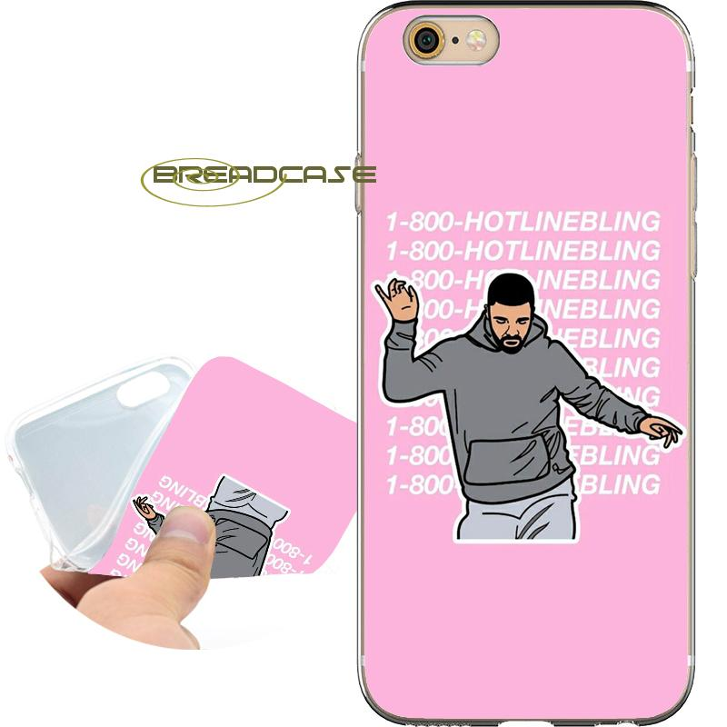 on sale e2690 c3653 Drake Hotline Bling Cases for iPhone 10 X 7 8 6S 6 Plus 5S 5 SE 5C 4S 4  iPod Touch 6 5 Clear Soft TPU Silicone Cover.