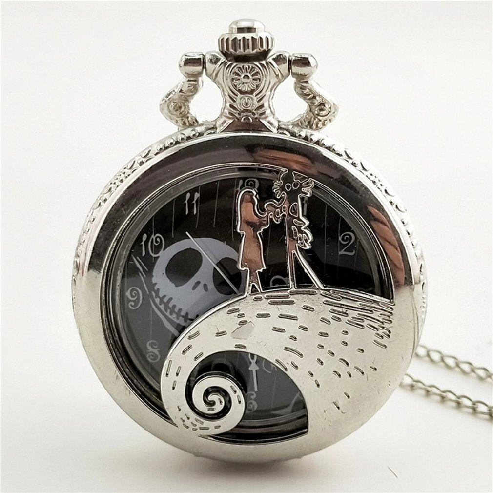 Vintage Round Dial Quartz Pocket Watch Christmas Night Carved Antique Necklace Pendant Clock for Mens Womens Steampunk relogio