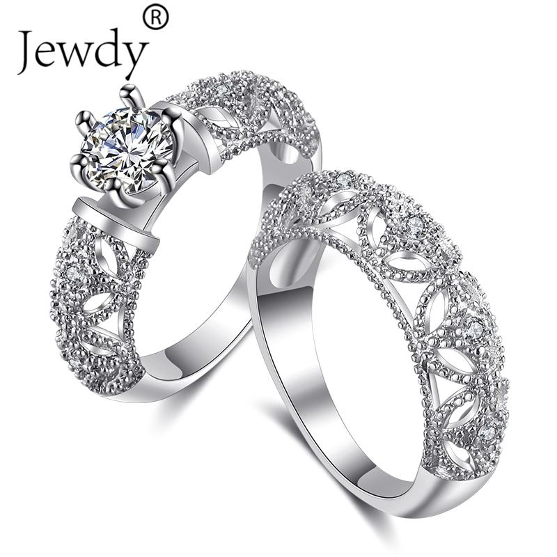 63e68fa939 2019 Stainless Steel Crown Wedding Ring For Lovers IP Silver Color Crystal  CZ Couple Rings Set Men Women Engagement Wedding Jewelry From Yuijin, ...