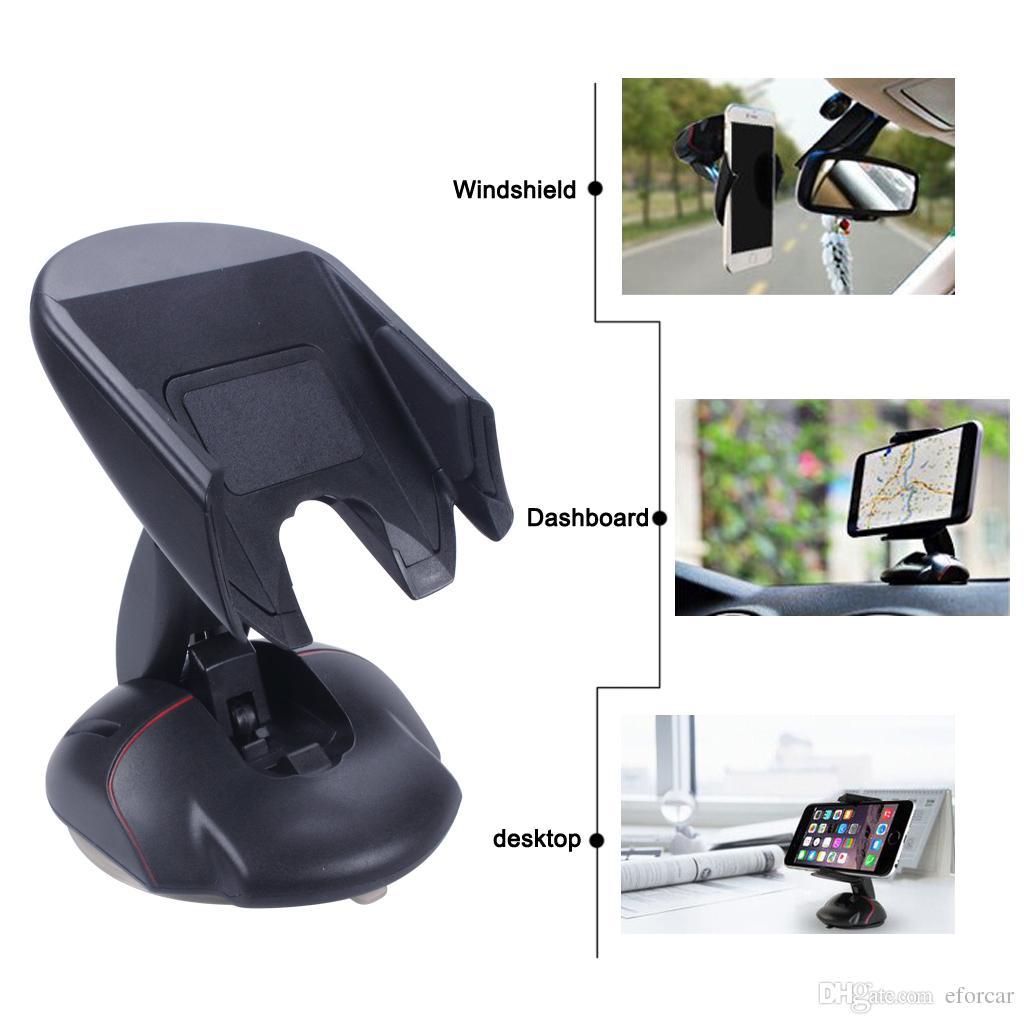 마우스 모양의 앞 유리 Car Phone Holder 대시 보드 데스크탑 Foldable Car Holder for Smartphones GPS 360도 회전 Creative Universal