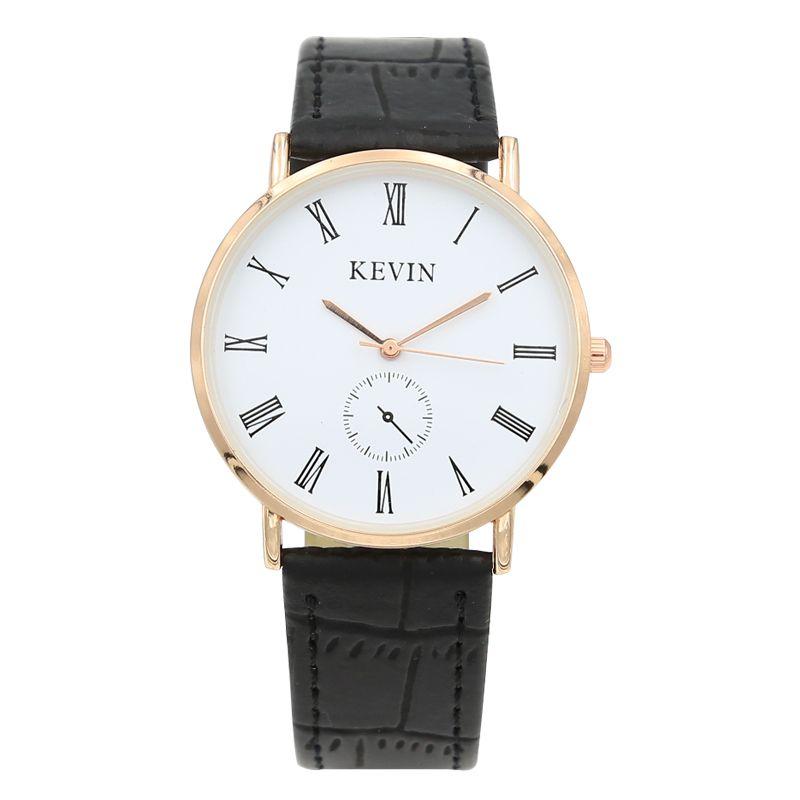 52ae2c2e66ab Compre Kevin Brand Impermeable Negro Blanco Pareja Relojes Mesas Moda  Harajuku Analógico Gran Dial Hombres Mujeres Reloj De Silicona Vestido Reloj  A  21.28 ...
