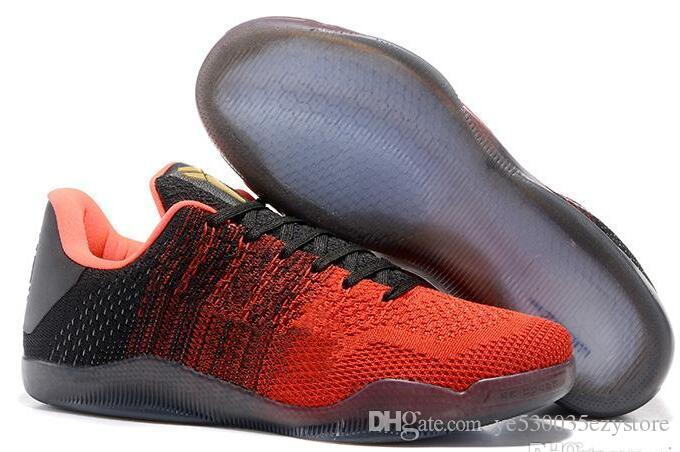 purchase cheap b48ee d0e1c 2019 Cheap Sale Kobe 11 Low Basketball Shoes Sports For Top Quality Men KB  11s Mentality 3 3M Black Wine Red Training Sneakers 7 12 From  Ye530035ezystore, ...