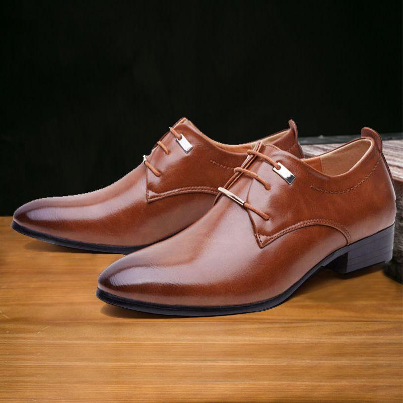 4c1675d9957 Compre Marca Italiana Zapatos Oxford Para Hombre Diseñador Zapatos Formales  Hombres Zapatos De Boda Hombres Zapatos De Hombre De Vestir Formal Sapato  ...