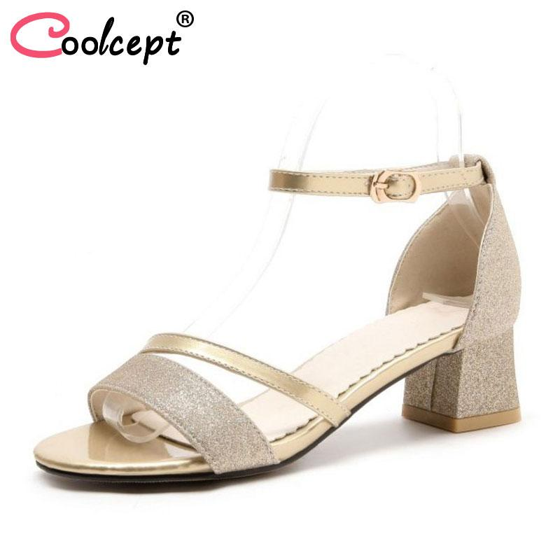 2866a41bfbc5 Wholesale Size 31-52 Women Sandals Ankle Strap Square Heel Open Toe ...