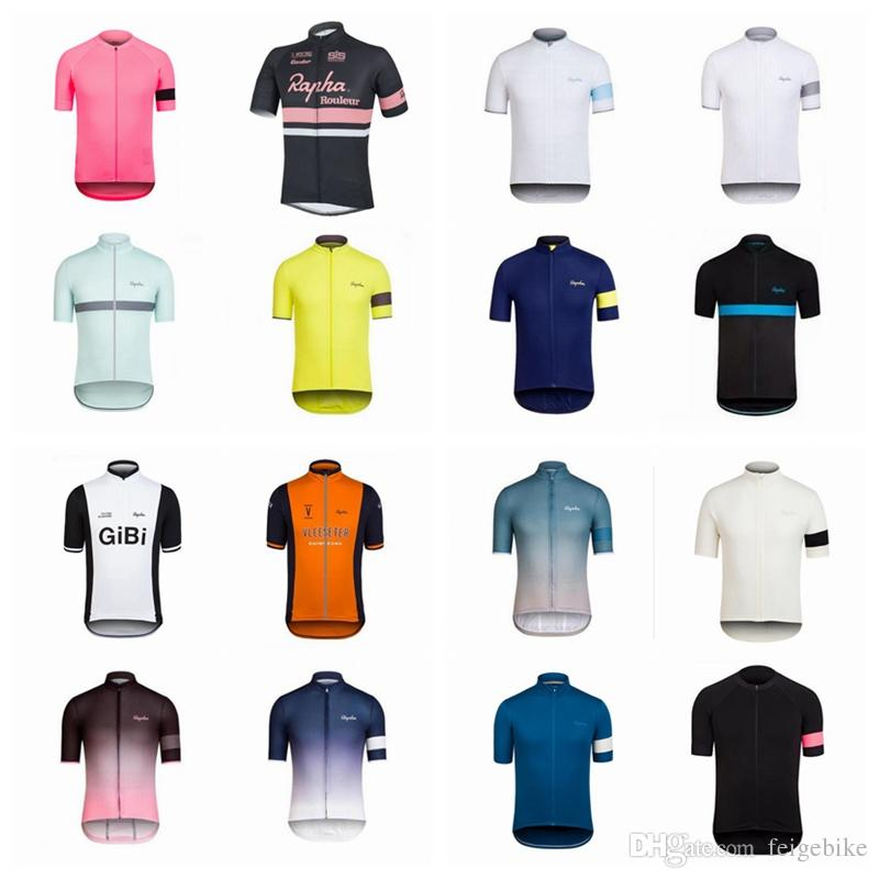 RAPHA Team Cycling Short Sleeves Jersey New Arrival Wholesale Price Top Quality  Cycling Clothing Short Sleeve Q42016 Cycling Socks Retro T Shirts From ... a5f380dee