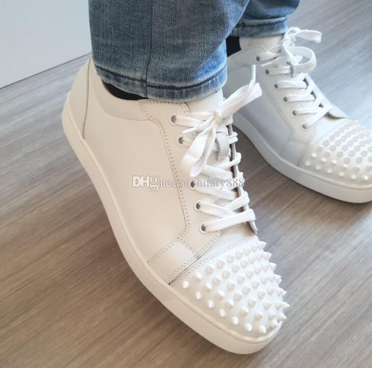 1dbf70502cf0 Wholesale Fashion Low Top Loubitag White Leather Hot Sale Red Bottom ...