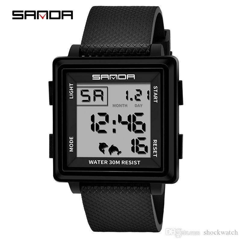 4e700a702e0 SANDA 363 Luxury Brand Mens Sports Watches Dive Digital LED Military Watch  Men Fashion Electronic Wristwatches Relogio Masculino Great Watches  Clearance ...