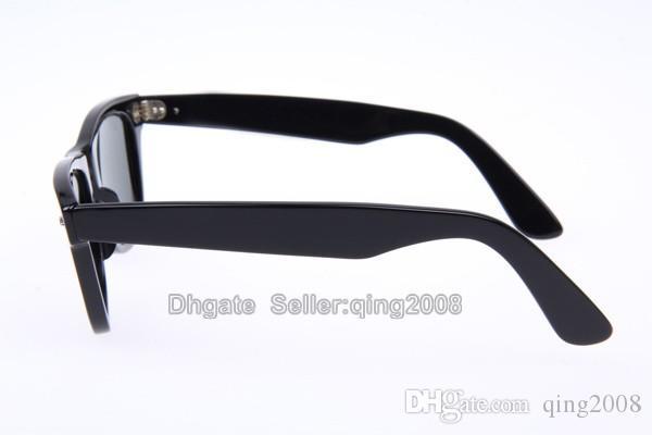 New Hot Classic Txrppr Sunglasses Bright Black Plank frame Glass UV protection G15 lens Man Women Sun glasses 50/54mm Come Brown box