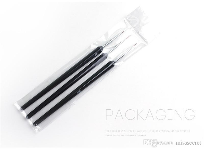3 teile / satz Nail art Liner Pinsel Set Zeichnung Malerei UV Gel Stift 3D Tipps DIY Blume Linie Design Stift Maniküre Nail art Werkzeug