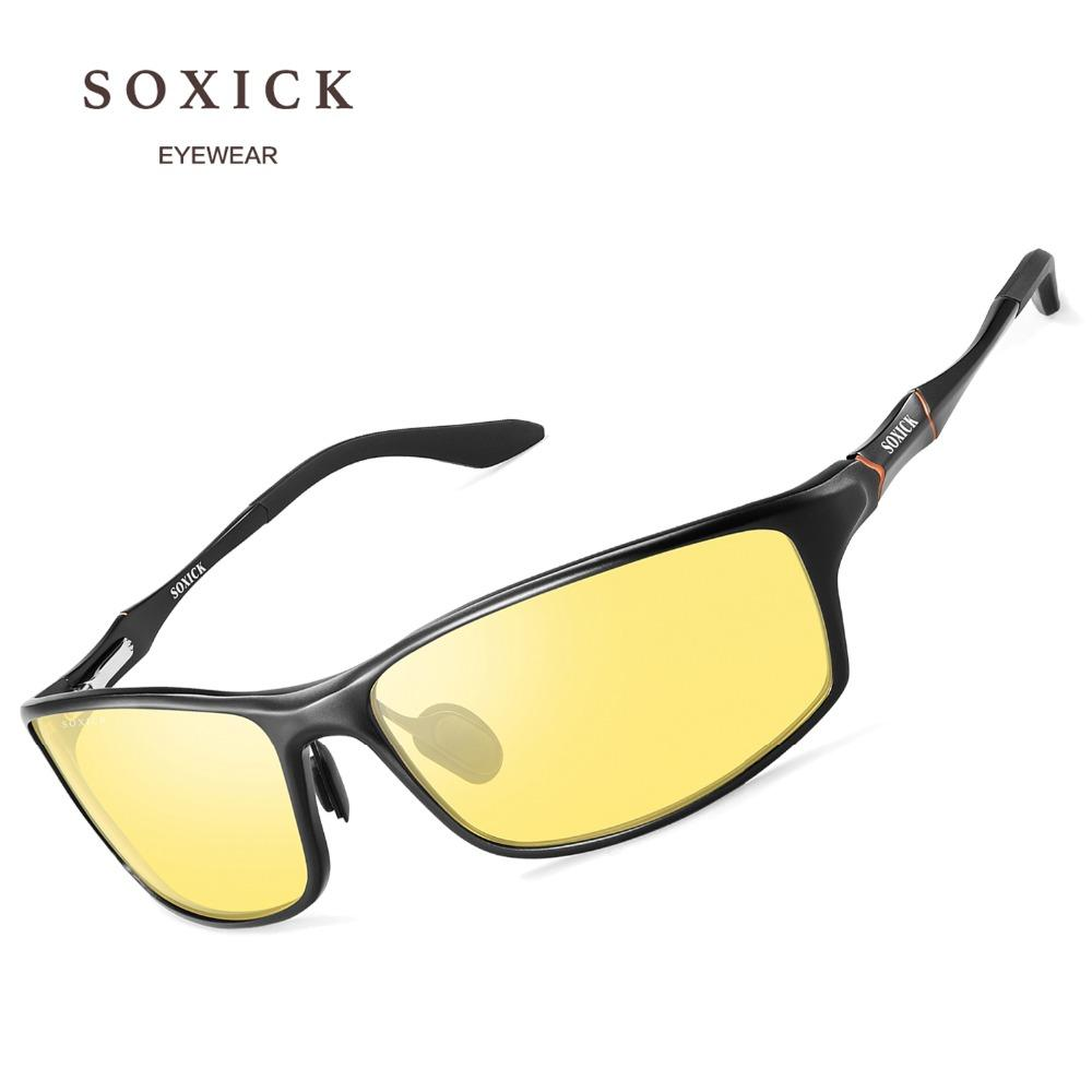 2f2d8b57ca SOXICK Brand Eyewear Safety Polarized Night Version Sunglasses For Men  Women Yellow Lens Anti Glare Outdoor Sports Sun Glasses Tifosi Sunglasses  Cheap ...