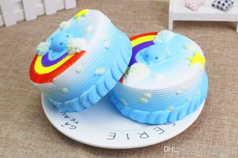 12CM Squishy Bread with fragrant Ocean Cake Kawaii Cute Charm Slow Rising Bread Bun Kid Toy Gift Fun STY039