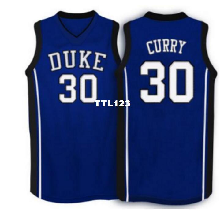 on sale 3eb2a 87998 Men #30 Duke Blue Devils Seth Curry Mesh fabric Full embroidery College  jersey Size S-4XL or custom any name or number College jersey