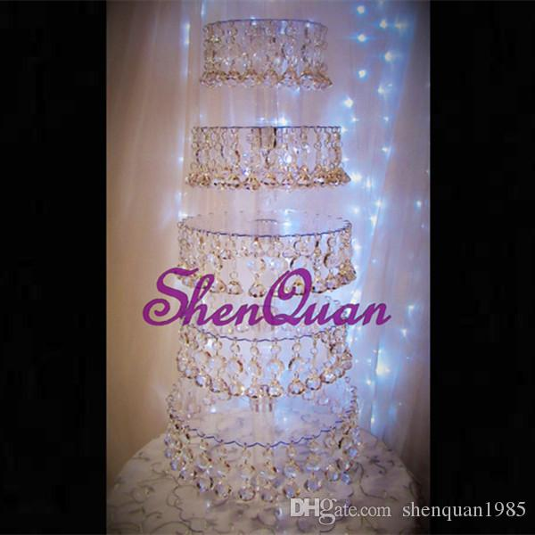 New acrylic hanging cake stand for wedding birthday party decoration,Cupcake Top Decor for wedding centerpieces