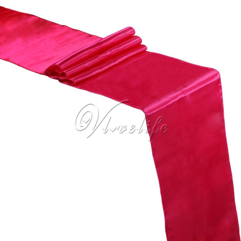 New Fuchsia Pink Satin Table Runners 12 X 108 Wedding Party