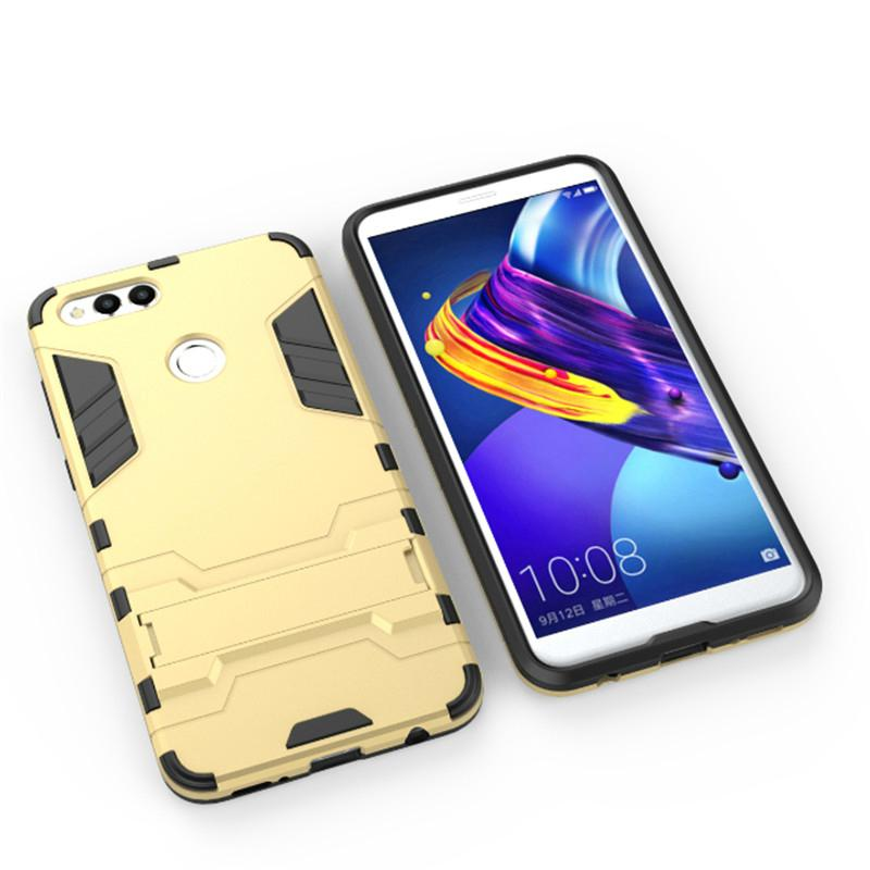 new concept 63465 a53c1 For Huawei Honor 7X Case Silicone Phone Case Shockproof Robot Armor Hybrid  Back Cover For Honor7X Cover with Kickstand bags