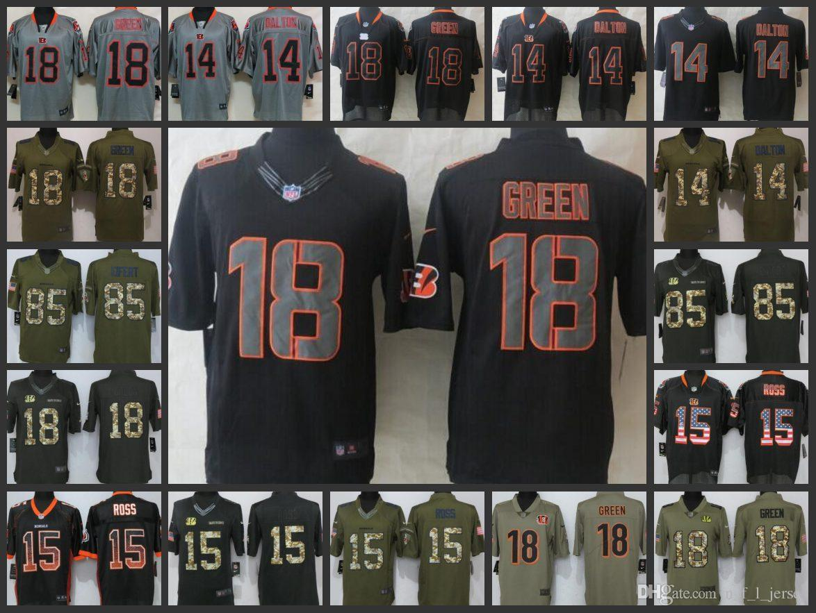17621ca5928 Cincinnati Bengals Men Jerseys  15 John Ross 85 Tyler Eifert 14 Andy ...