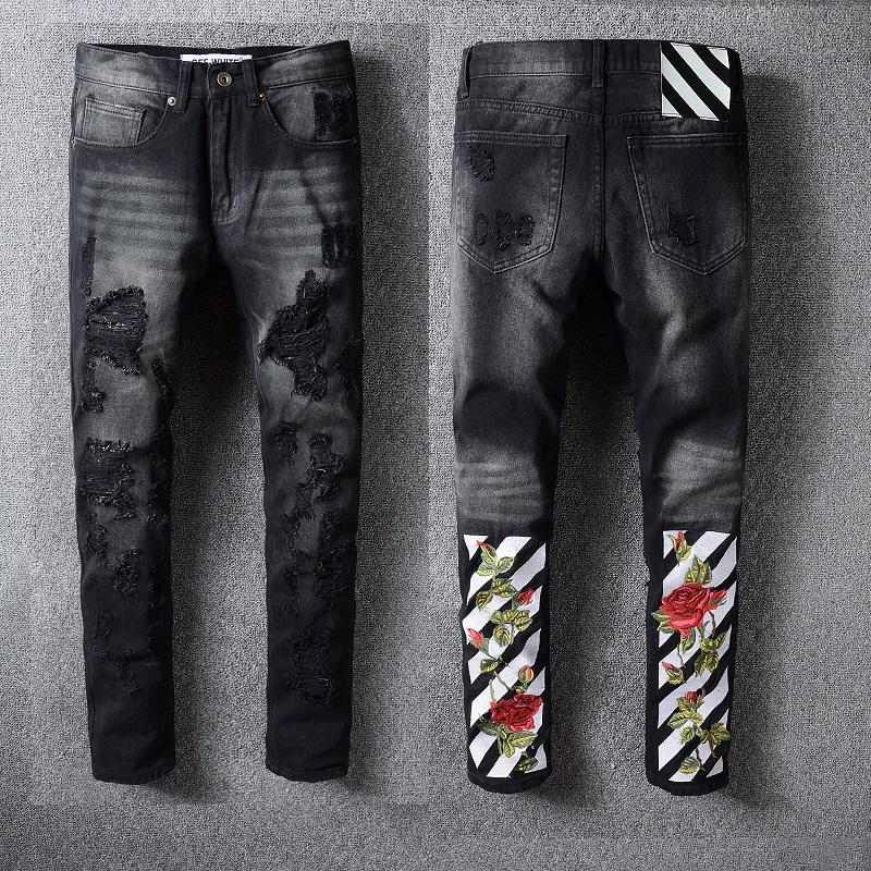 Jeans 2019 Neuer Stil Mehrere Modelle Männer Vintage Street Hip Hop Ripped Biker Jeans Zerstört Ausgefranste Männer Motorrad Joggers Dünne Denim Hosen 40