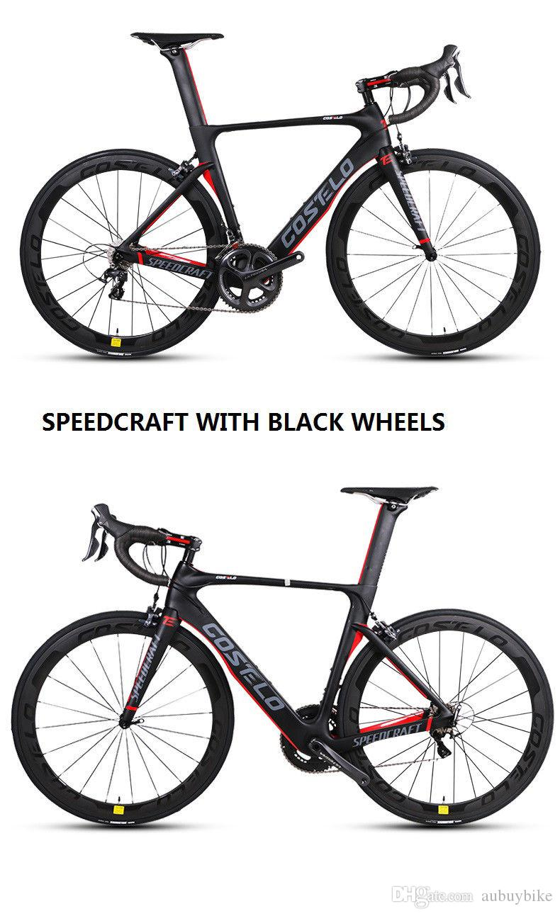 Costelo Speedcraft Complete Bike Carbon Fiber Road Bicycle Bici Completa Bike Frame Groupset Wheel Bicicleta Bicycle Group Di2