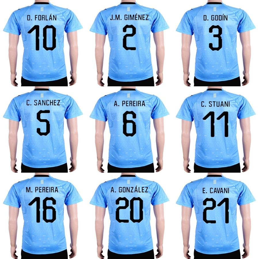 27b9c041948 Mens Womens Kids Custom 2018 World Cup Uruguay Soccer Jersey 21 E ...