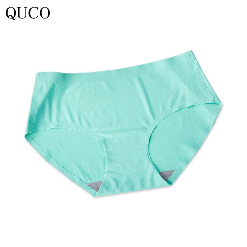 bdd1ec31d33 QUCO Brand Women Underwear High Waist Panties High Quality Modal Undies Hipster  Lingerie Lace Sexy Female Large Briefs W4 UK 2019 From Berniee