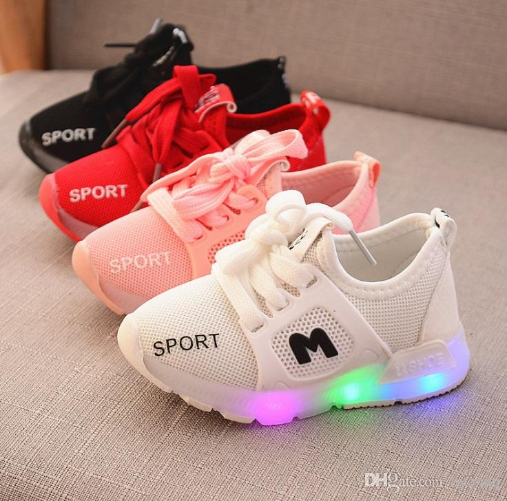 f6c6bbe1090f 1 6years Old Kids Shoes Led Light Sneakers Fashion Children Shoes Luminous  Glowing Sneakers Baby Toddler Boys Girls Running Shoes LED XXP43 Kids  Sneakers ...