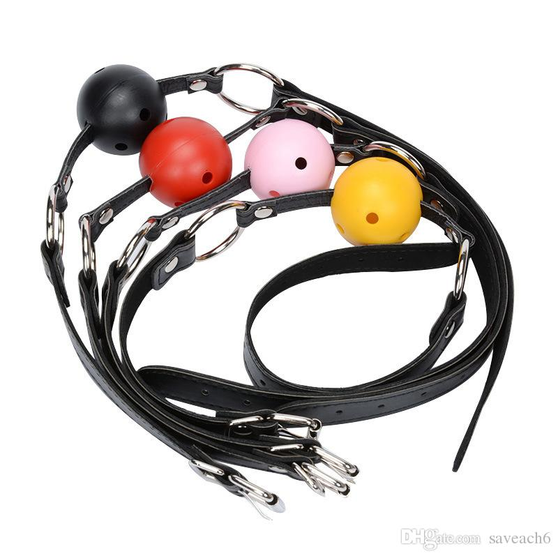 Sex Open Mouth Gag Harness Oral Fixation Nylon Band Ball Gag Mouth Plug Adult Restraint Slave Bondage Sex Toys for Couples