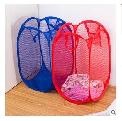 سلة الغسيل حقيبة طوي المنبثقة غسل الملابس تعوق شبكة التخزين للأطفال اللعب الأحذية أشتات تخزين dhl شحن مجاني