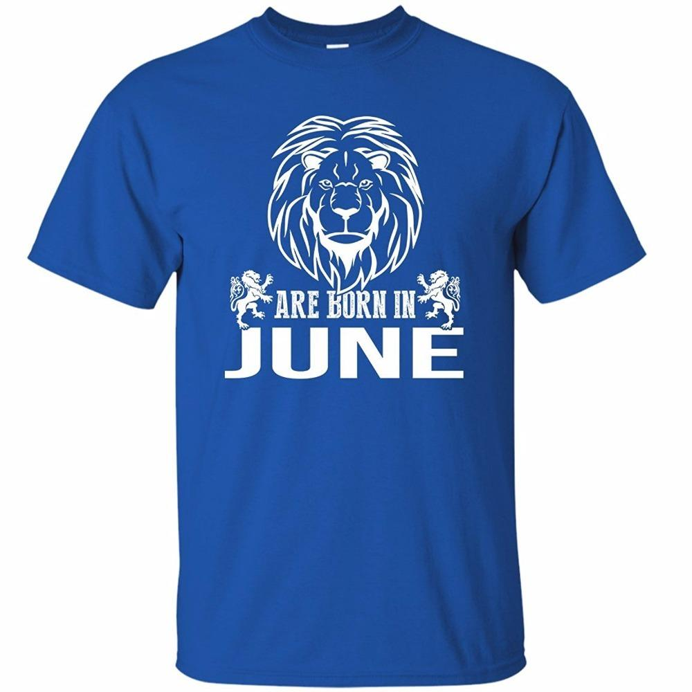 T Shirt Stores Short Sleeve Printed Crew Neck Kings Are Born In June Awesome Birthday Gift For Men Boys Tshirt Tee Graphic Design Own