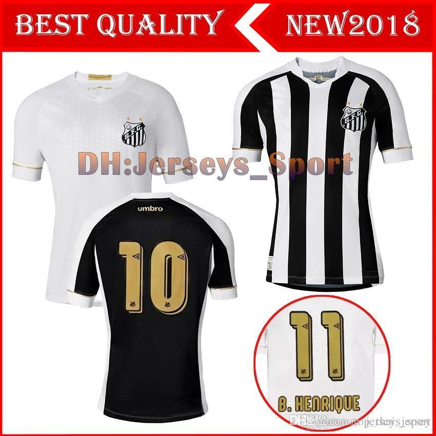 2b5d4ff41 2018 2019 Santos FC Soccer Jersey 18 19 Santos Home Away Gabriel ...