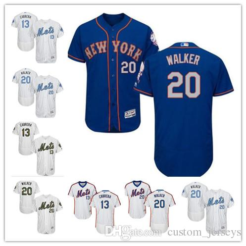huge selection of 1bb40 fe0d3 custom Men women youth Majestic NY Mets Jersey #20 Neil Walker 13 Asdrubal  Cabrera Home Blue Grey White Kids Girls Baseball Jerseys
